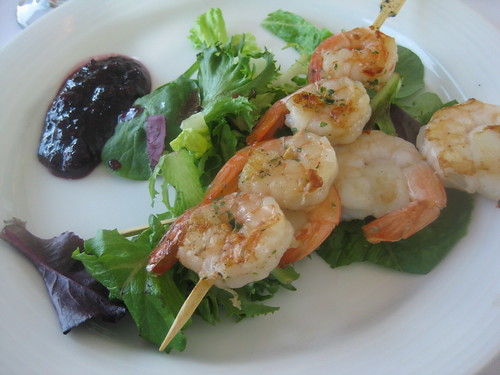 Shrimps and Scallops with Saskatoon Berry Chutney