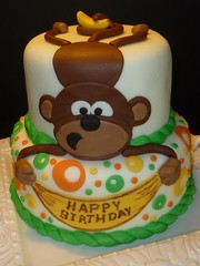 Monkey Cake by Yvonne C, Twin Cities, MN, www.birthdaycakes4free.com