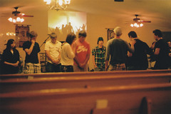 lion chasers (taffynewt) Tags: film church youth canon god ae1 rally religion pray praying jesus lions chasers pentacostal