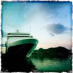 HipstaPrint - Maasdam (sheila mckinney) Tags: summer canada newfoundland evening harbor stjohns noflash cruiseship johnslens hipstamatic kodotxgrizzledfilm iphone4s