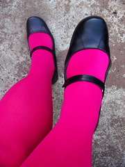 Great pink opaques... (Christie Jane) Tags: feet stockings tv shoes cd tights crossdressing hose tgirl transgender flats sissy tranny transvestite hosiery maryjanes pantyhose crossdresser crossdress gurl tg leggings maryjaneshoes trannie xdressing pinktights xdress strapshoes tgurl opaquetights xdressresser
