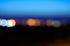 Undefined (miriHCB) Tags: blue black skye yellow night lights focus soft colours horizon atmosphere lightblue