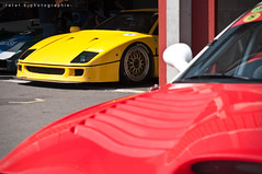 Ferrari F40 (BenjiAuto (Ratet B. Photographie)) Tags: show road red france cars sport yellow race italian nikon italia duo meeting gear ferrari giallo enzo gto autos modena lm rosso lamborghini luxury scuderia supercar challenge maserati 250 vienne stradale maranello supercars combo paddock 288 pitlane f40 f50 18105 pagani 575m gtc mugello 55200 paddocks 550m fiorano d90 vigeant ratet worldcars hypercars classiche sportcollection
