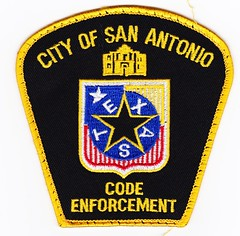 TX - San Antonio Code Enforcement (Inventorchris) Tags: city public office code san peace cops tx police safety cop service law enforcement patch antonio emergency patches department officer officers saftey