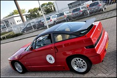 Alfa Romeo SZ (wimlex-nl) Tags: red storm frank rotterdam rally porsche alfa romeo rare centrum fonds sz bijzonder zeldzaam hensen zzf zeldzame wimlex ziekten