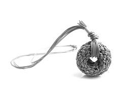 GRADE OFF (balnikova) Tags: gray knit jewellery plastic pendant silicone