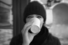 The Eyes (Kastner Peter) Tags: travel winter portrait bw anna white holiday black contrast canon autum czech head herbst prag praha tschechien sw kontrast kopf punsch tschechei 450d