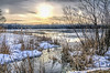 HCS - Spring Thaw edition (Wes Iversen) Tags: winter snow ice nature water fishermen lakes cattails hdr icefishing sundogs hcs cookcountyforestpreserve becklake nikkor18300mm clichésaturday