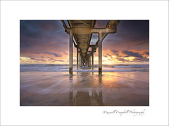 Fingal Sand Pumping Jetty (Maxwell Campbell) Tags: ocean morning sea sun seascape beach sunrise canon landscape photography coast waves jetty australia nsw lowtide tweedheads fingalheads maxwellcampbell
