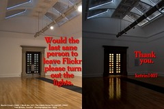 Flickr Red Day - Lights Out (ketrin1407) Tags: typography satire protest tatebritain martincreed flickrredday