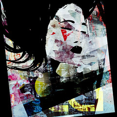 China Girl-03 (PASLIER MORGAN) Tags: street people streetart art texture colors face look fashion america photoshop poster couleurs tag colores american mode effect affiche willd artpovera