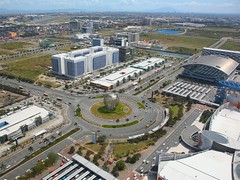 """The """"SM Mall of Asia""""    Manila       The Philippines (Flame1958) Tags: shopping philippines aerialview shoppingcentre shoppingmall manila moa shoppingcenter teletech 0213 thephilippines aerielview mallofasia smmallofasia 2013 manilacity 150213 mallofasiaarena teletechccm teletechmanila dioknoblvd dioknoboulevard jwdioknoboulevard jwdioknoblvd moatransportationterminal moatransportation"""