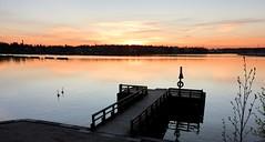 It's a good time for the sun to set (KaarinaT) Tags: sea finland pier helsinki dusk calm serene laajasalo tullisaari