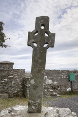 Cooley Cross west facing side (backpackphotography) Tags: ireland cross monastery monolith hdr donegal cooley moville highcross loughfoyle skullhouse backpackphotography cooleycross