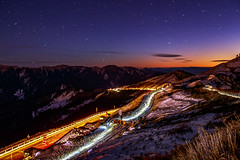 (JIMI_lin) Tags: sunset snow star taiwan startrails    cartrails cartrack    hehuanmountain