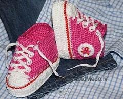 اصنعي حذاء جميل لطفلك بالكروشي او الصوف تحفة