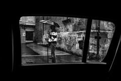 (Levan Kakabadze) Tags: blackandwhite window valencia rain spain streetphotography monotone espana raindrops lkphcar