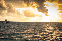 Sunrise In San andres Island - Colombia (jakomaukoto) Tags: blue sunset costa cold color beach water yellow azul sunrise canon photo agua colombia wind playa viento amanecer autor