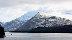Lake Padarn  (Snowdonia) , North Wales (Kath Williams(Thanks for the Faves)) Tags: snow mountains nature lakes serene welsh snowdonia tranquil 2015 llynpadarn