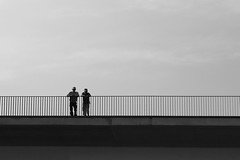 SIMPLICITY (natascha_huls) Tags: world city morning bridge portrait sky people urban blackandwhite sunlight abstract art water lines weather silhouette architecture river dark outside outdoors grey construction cityscape shadows belgium noiretblanc cloudy outdoor geometry sunny minimal rainy simplicity geometrical cloudless minimalism simple lige