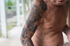 Iban Tattoo in Nanga Entalau, Sarawak - Borneo (P_mod) Tags: tattoo ink sarawak borneo iban pmod ibantattoo