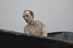 Man in a Boat - Ron Mueck (konceptsketcher) Tags: vienna people man art modern temple contemporary nudity exibition ronmueck theseus 2016 hyperrealism maninaboat canon70d
