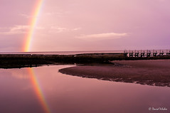 Reflection II (vilchesdavid) Tags: sunset sea sky reflection beach arcoiris clouds mar rainbow playa reflejo