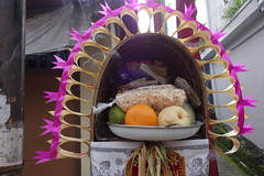 DSC00164 (Peripatete) Tags: family bali nature festival fruit prayer religion ceremony hindu ubud offerings galungan penjor