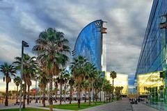 Barceloneta Hotel W (gerard eder) Tags: world barcelona city travel espaa beach hotel spain europa europe waterfront w ciudades barceloneta stdte catalua spanien reise metropole