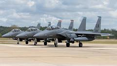 Mudhens in 16:9 (Tony Osborne - Rotorfocus) Tags: force eagle air united strike states boeing douglas usaf raf mcdonnell mudhen f15 2016 lakenheath f15e