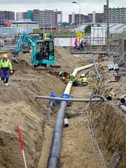 20160525 Delft, Engelsestraat (Wattman (trams, treinen, etc)) Tags: arbeit werk arbeid kabels grond leiding klic leidingen arbeiders ondergrond grondwerk grondwerkers