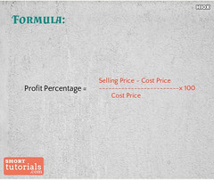 How do you Calculate Profit Percentage (teresamary2) Tags: profit percentage