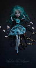 Sunless Sea Monster (dancingmorgana) Tags: blue sea monster high doll ooak wig custom sunless repaint reroot lagoona monsterhigh