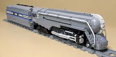 Dreyfuss_Hudson_03 (SavaTheAggie) Tags: lego steam engine locomotive hudson 464 henry dreyfuss new york central system nyc railroad train trains streamlined streamliner j3a