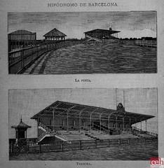 Setembre 1883 La Ilustración Hipòdrom de Barcelona (Centre d'Estudis de l'Hospitalet) Tags: barcelona sants 1883 cantunis hipòdrom