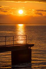 Dock (Infomastern) Tags: sunset sea water malm vatten hav solnedgng sibbarp