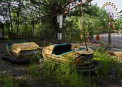 51 - Prypyat The Funfair, Dodgems and Ferrris Wheel - Chernobyl (Craig Hannah) Tags: abandoned town ukraine disaster ferriswheel amusementpark disused 1986 funfair derelict restricted zone dodgems exclusionzone prypyat hazardousarea zoneofalienation 30kilometrezone radioactivecontamination craighannah