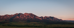 Flatiron Sunrise (Patrick.Russell) Tags: alpenglow boulder co colorado sunrise cloudsstormssunsetssunrises flatirons frontrange foothills landscape panorama mountain mountains hills summer summertime nikon d300 outdoor outdoors nature beauty peaceful