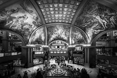 Galerias Pacifico (hzeta) Tags: galerias pacifico buenos aires architecture arquitectura frescos cupula dome shopping mall paseo de compras art arte mural murales black white blanco y negro bw bn