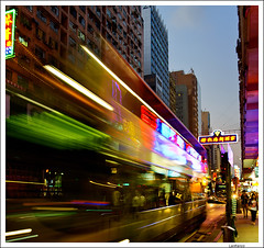 swinging Hong Kong (Lanfranco_B) Tags: bus night hong kong swinging kowloon notturno colorphotoaward mygearandme blinkagain