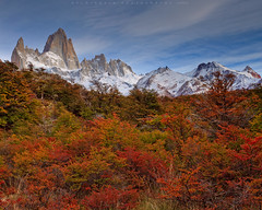 Autumn in Patagonia (Helminadia Ranford) Tags: morning autumn patagonia mountain fall argentina colors trekking hiking fitzroy peaks helminadia travelphotography lagunacapricamp