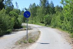 Absurd vägskyltning (auzgos) Tags: absurd skylt väg skogen vägskylt fotosondag delning fs120624
