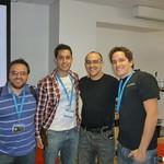 Con Dave McCLure en 500 startups. Mientras sacaban la foto Matías y yo le estabamos choreando la billetera.