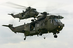 Photo of Sea King in Commando assault at Yeovilton