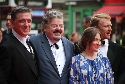Craig Ferguson, Robbie Coltrane, Kelly MacDonald and Kevin McKidd on the red carpet for the European premiere of Brave at the Festival Theatre