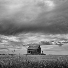 Remember me with a smile on my face (martinfowlie) Tags: sky house storm man abandoned field grass weather clouds canon big alone alberta 7d lonely prairies ruraldecay cherryghost thirstforromance greatsonggolisten
