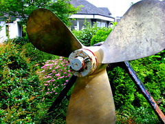 Bowness propeller (Tony Worrall Foto) Tags: uk england metal gardens turn three boat photo support north images cumbria british swift propeller prop windermere thelakes relic olden bowness 2012tonyworrall
