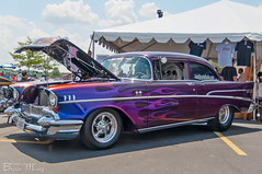 1957 Chevy Bel-Air (Muncybr) Tags: chevrolet belair chevy fourthofjuly 1957 custom july4th independanceday columbussquare trifive classiccarshow 3rdannual brianmuncy photographedbybrianmuncy autosmartsradiocom badd57