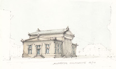Altstadter Hauptwache (Flaf) Tags: colour water pencil dresden drawing karl florian theaterplatz sandstein wache freie friedrich schinkel classicism classique klassizismus flaf postplatz afflerbach zeichnerei augutusbrcke