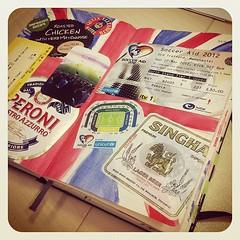 Soccer Aid 2012 / journal spread on Moleskine daily diary (Sinney) Tags: moleskine manchester williams soccer diary journal large daily aid robbie 2012 earlybird instagram